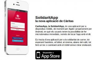 Imatge de la notícia Càritas app, el foment de les microdonacions