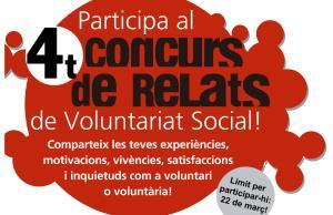 Imatge de la notícia Participa al 4t Concurs de Relats de Voluntariat   Social!