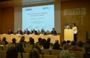 Lliurament d'ajudes per la recerca en càncer. Font: LA Marató de TV3