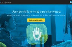 El Volunteer Marketplace és una secció de Linkedin per trobar voluntariat
