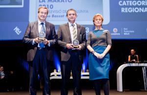 Imatge de l'entrega del Premi Proteus a la Marató