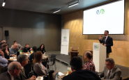 El conseller de Territori i Sostenibilitat, Santi Vila, al Tàndem de Girona