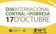 Cartell del dia internacional contra la pobresa