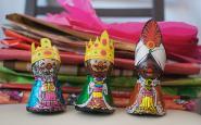 Imatge dels tres Reis Mags d'Orient de xocolata