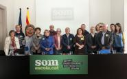 Representants d'algunes de les entitats membres de Somescola.