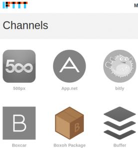 IFTTT disposa de 71 canals d'eines 2.0.