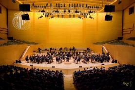 La Banda d'Alcanar en una actuació a l'Auditori, l'any 2006 (Foto: FCSM)