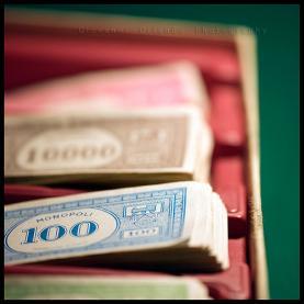 Fotografia de bitllets del Monopoly. Galeria de jjhon a Flickr.