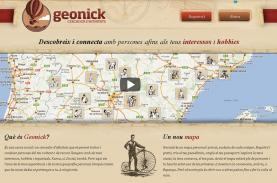 Captura de la plana web Geonick
