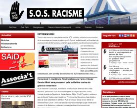 Captura del nou lloc web de SOS Racisme Catalunya