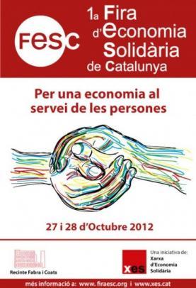 Cartell de la 1a Fira d'Economia Solidària de Catalunya