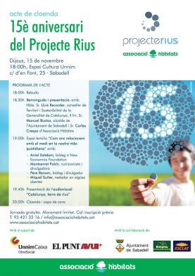 Acte de cloenda del 15è aniversari del Projecte Rius