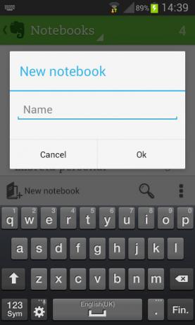Crear una llibreta és molt senzill.