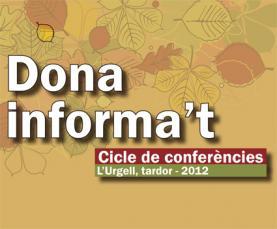 Cartell del Cicle de conferències L'urgell, tardor–2012