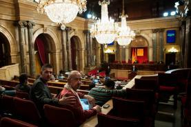 Imatge del Parlament el dia de l'aprovació de la moció