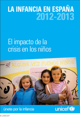 Portada de l'informe La infancia en España