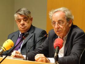 Jordi Sales i Salvador Giner, membres de la direcció de la UCE