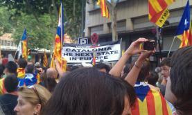Manifestació a Barcelona, Isaac Martin