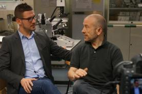 Marc Antoni i Roger, impulsors del Banc d'ADN