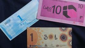 Diferents monedes socials. Foto de la Trobada de Vilanova i la Geltrú