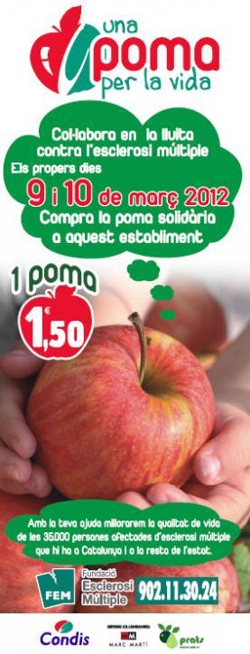 """Imatge de la campanya """"Una poma per la vida"""""""