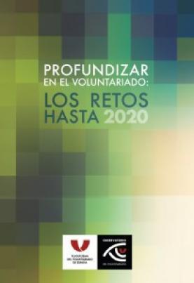 """Portada de l'estudi """"Profundizar en el voluntariado: los retos hasta 2020"""""""