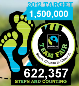 Passos que sumen a la campanya Take a step for Fairtrade