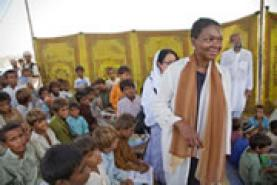 Imatge de Valerie Amos, en la seva visita a Pakistan
