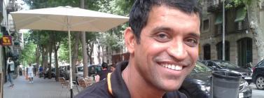 Amin Sheikh en la seva visita a Barcelona
