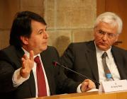El secretari general de Cultura, Xavier Solà, i el Conseller Ferran Mascarell