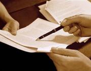 Persona signant un contracte