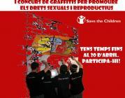 Cartell Graffitejant els nostres drets des de Senegal a Catalunya