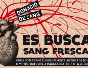 #esbuscasangfresca Campanya de donació de sang als equipaments juvenils de Barce