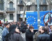 Manifestació a Barcelona contra la guerra