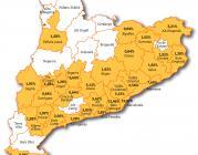 Mapa d'entiats membres de la FAC al 2012