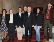 El Conseller de Cultura, Ferran Mascarell, amb els impulsors de la iniciativa