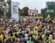Mobilització organitzada per Somescola el 14 de juny de 2014.