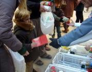 Recollida d'aliments Tió Solidari. Foto del Banc dels Aliments