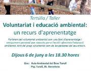 Voluntariat i educació ambiental, un recurs d'aprenentatge