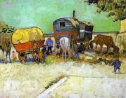 Vincent van Gogh- Caravana de gitanos