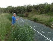 Voluntaris fent la revisió d'un riu a Tarragona - Associació Habitats