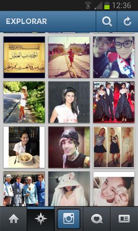 El menú Explorar de Instagram