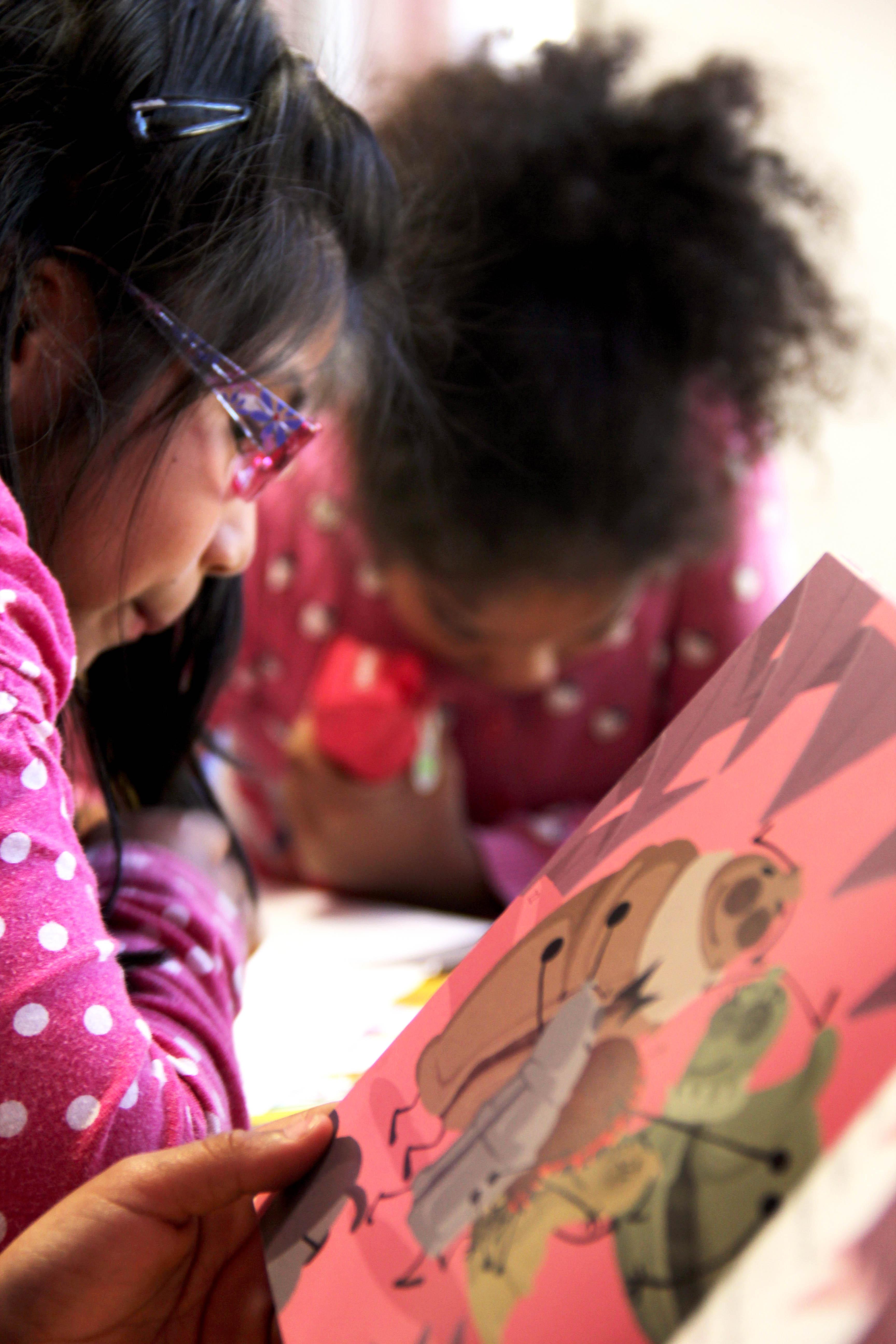 Childrens in the Associació Educativa ítaca.