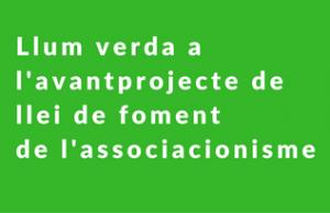 Imatge de la notícia  Llum verda a l'avantprojecte de llei de foment de l'associacionisme