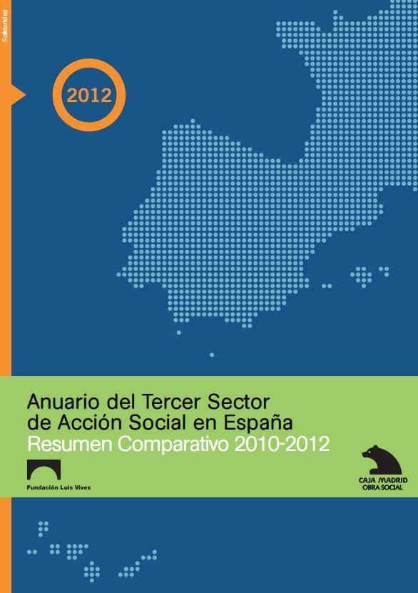 Portada de Anuario del Tercer Sector de Acción Social en España: resumen comparativo 2010-2012