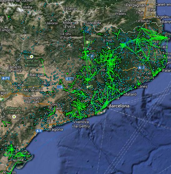 Guifi.net s'està establint a tot el territori català