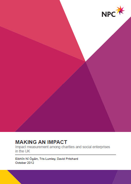 Portada de Making an impact: impact mesurment among  charities and social enterprises in the UK