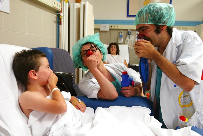 Imatge de pallassos d'hospital. Font: Pallapupas