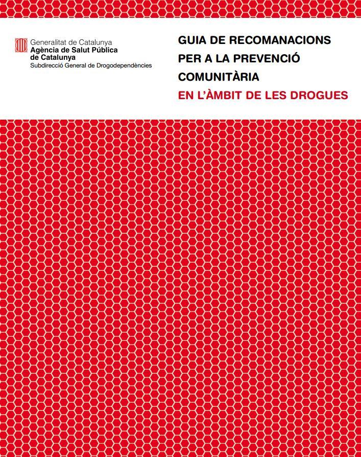Portada de Guia de recomanacions per a la prevenció comunitària en l'àmbit de les drogues