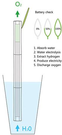 Amb aquest procés, el portàtil obté l'energia de l'aigua.